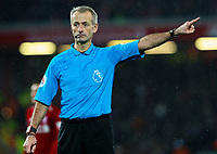 Referee Martin Atkinson<br /> <br /> Photographer AlexDodd/CameraSport<br /> <br /> The Premier League - Liverpool v Manchester United - Sunday 16th December 2018 - Anfield - Liverpool<br /> <br /> World Copyright © 2018 CameraSport. All rights reserved. 43 Linden Ave. Countesthorpe. Leicester. England. LE8 5PG - Tel: +44 (0) 116 277 4147 - admin@camerasport.com - www.camerasport.com