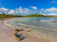 Vieques Island, Puerto Rico<br /> The white sand of Playa Plata or Orchid Beach. on the island of Vieques