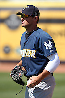 Trenton Thunder pitcher Shaeffer Hall #19 before a game against the Akron Aeros at Canal Park on July 26, 2011 in Akron, Ohio.  Trenton defeated Akron 4-3.  (Mike Janes/Four Seam Images)