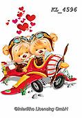 Interlitho-Fabrizio, Comics, CUTE ANIMALS, LUSTIGE TIERE, ANIMALITOS DIVERTIDOS, paintings+++++,2 bears, plane,KL4596,#ac#, EVERYDAY ,sticker,stickers