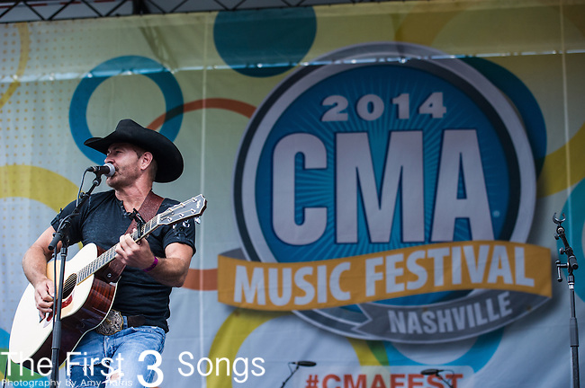 Keith Burns of Trick Pony performs on Day One of the 2014 CMA Music Festival in Nashville, Tennessee.