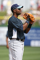 March 19th 2008:  Joel Guzman of the Tampa Bay Devil Rays during a Spring Training game at Bright House Networks Field in Clearwater, FL.  Photo by:  Mike Janes/Four Seam Images