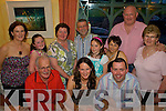 Surprise - Tara Dillon from Knockmoyle, Tralee, seated centre having a wonderful time with family at her surprise 30th birthday dinner held in The Oyster Tavern, The Spa on Saturday night. Seated l/r Bill Dillon, Birthday Girl Tara Dillon and James Hanlon. Standing l/r Karen Dillon, Andrea Dillon, Elaine Hanlon, John Hanlon, Aoife Dillon, Betty Dillon, Cliff Dillon and Frances Dillon.