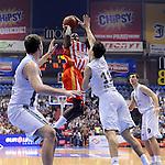KOSARKA, BEOGRAD, 11. Nov. 2012. -  Kosarkas Crvene zvezde Michael Scott. Utakmica 8. kola ABA lige izmedju Partizana i Crvene zvezde u okviru sezone 2012/2013.  Foto: Nenad Negovanovic
