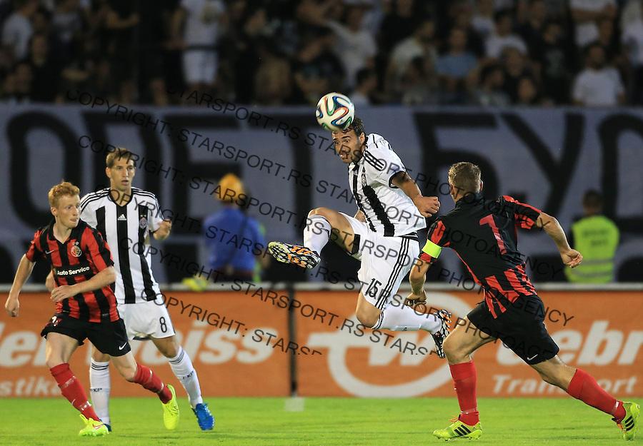 Fudbal Football Soccer<br /> UEFA Champions league-2nd qualifying round<br /> Partizan v HB Torshavn (Faroe Islands)<br /> Branislav Trajkovic (C)<br /> Beograd, 07.15.2014.<br /> foto: Srdjan Stevanovic/Starsportphoto &copy;