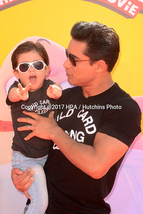 """LOS ANGELES - MAY 21:  Dominic Lopez, Mario Lopez at the """"Captain Underpants"""" Los Angeles Premiere at the Village Theater on May 21, 2017 in Westwood, CA"""