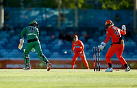 2nd November 2019; Western Australia Cricket Association Ground, Perth, Western Australia, Australia; Womens Big Bash League Cricket, Perth Scorchers versus Melbourne Stars; Erin Osborne of the Melbourne Stars is bowled out - Editorial Use
