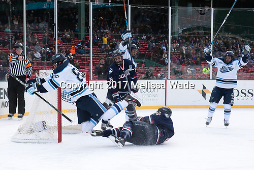 Tim Low, Blaine Byron (Maine - 89), Max Kalter (UConn - 18), Johnny Austin (UConn - 6), Cam Brown (Maine - 21) - The University of Maine Black Bears defeated the University of Connecticut Huskies 4-0 at Fenway Park on Saturday, January 14, 2017, in Boston, Massachusetts.