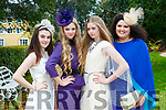 Imogen O'Connor, Siofra Foley, Jemma Key all Killarney and Nadine Smith Abbeyfelae  at the Killarney Rotary afternoon tea fashion show in the Malton Hotel on Saturday,