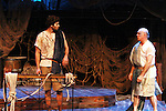 Josh A. Davis & Eddie Korbich - Odysseus & Poseidon - Dress Rehearsal of Odyssey - The Epic Musical  on October 21, 2011 at the American Theatre of Actors, New York City, New York. (Photo by Sue Coflin/Max Photos)
