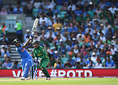June 18th 2017, The Kia Oval, London, England;  ICC Champions Trophy Cricket Final; India versus Pakistan; Hardik Pandya of India hits another 6