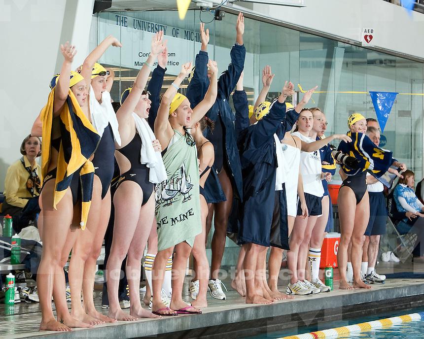 1/29/2010 Women's swimming and diving vs. Michigan State.