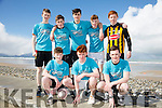 Mounthawk students, front l-r  Shane Costello, Gerard Tobin and Tom Guerin. Back l-r Thomas Healy, Joe O'Connor, Darragh Clarke, Adam Boyle and Diarmuid O'Connor at the Banna Beast Challenge on Saturday