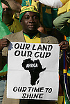11 JUN 2010: South Africa fan. The South Africa National Team tied the Mexico National Team 1-1 at Soccer City Stadium in Johannesburg, South Africa in the opening match of the 2010 FIFA World Cup.
