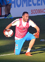 BARRANQUILLA - COLOMBIA -07-10-2017: David Ospina guardameta  de Colombia. Entrenamiento de la selección Colombia de fútbol en el estadio Metropolitano antes de su encuentro contra Perú para la clasificación sudamericana a la Copa Mundial de la FIFA Rusia 2018. / Davis Ospina goalkeepre of Colombia. Training of Colombia's soccer team at the Metropolitan Stadium before their match against Peru for the South American qualification to the 2014 FIFA World Cup Russia Photo: VizzorImage / Alfonso Cervantes / Cont