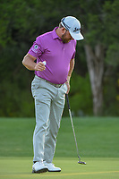 Graeme McDowell (NIR) after sinking his putt on 10 during day 2 of the Valero Texas Open, at the TPC San Antonio Oaks Course, San Antonio, Texas, USA. 4/5/2019.<br /> Picture: Golffile | Ken Murray<br /> <br /> <br /> All photo usage must carry mandatory copyright credit (&copy; Golffile | Ken Murray)