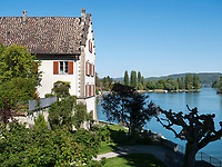 Rheinsee, Kloster zum heiligen Georg, Stein am Rhein, Kanton Schaffhausen, Schweiz<br /> Rhinelake (Rheinsee) and Saint George's Abbey in Stein am Rhein, Canton Schaffhausen, Switzerland