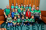 The Na Gaeil u6's received their medals in the clubhouse on Sunday evening.