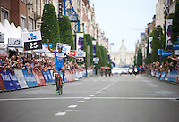 Bjorn Leukemans (BEL/Wanty-Groupe Gobert) wins solo in the streets of Leuven<br /> <br /> GP Jef Scherens 2015