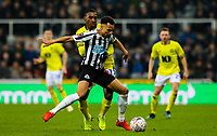 Newcastle United's Jacob Murphy shields the ball from Blackburn Rovers' Amari'i Bell<br /> <br /> Photographer Alex Dodd/CameraSport<br /> <br /> Emirates FA Cup Third Round - Newcastle United v Blackburn Rovers - Saturday 5th January 2019 - St James' Park - Newcastle<br />  <br /> World Copyright &copy; 2019 CameraSport. All rights reserved. 43 Linden Ave. Countesthorpe. Leicester. England. LE8 5PG - Tel: +44 (0) 116 277 4147 - admin@camerasport.com - www.camerasport.com