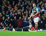 West Ham's Andy Carroll tussles with Stoke's Ryan Shawcross <br /> <br /> Barclays Premier League - West Ham United v Stoke City - Upton Park - England -12th December 2015 - Picture David Klein/Sportimage