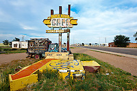 "Abandoned ""Ranch House Cafe"" Sign in Tucumcari, NM"