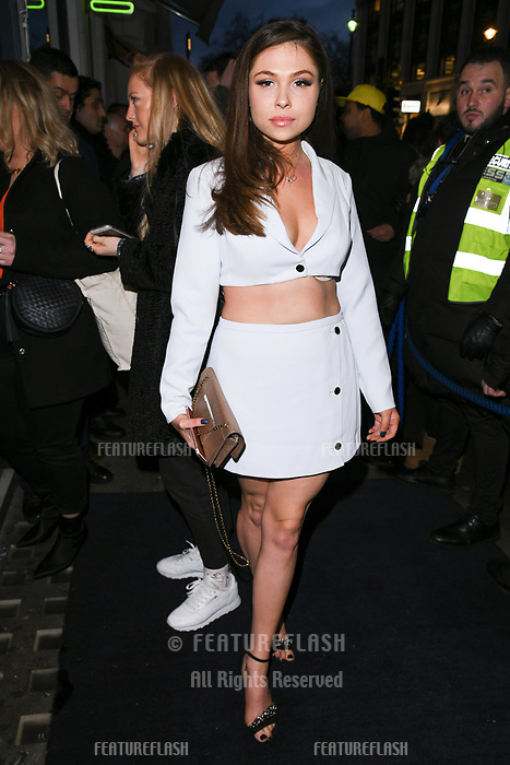 Fran Parman arriving for James Ingham's Jog on to Cancer 2018 at Cafe de Paris, London, UK. <br /> 04 April  2018<br /> Picture: Steve Vas/Featureflash/SilverHub 0208 004 5359 sales@silverhubmedia.com