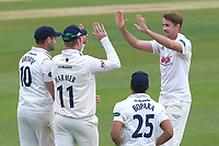 Matthew Quinn of Essex celebrates taking the wicket of George Bailey during Essex CCC vs Hampshire CCC, Specsavers County Championship Division 1 Cricket at The Cloudfm County Ground on 21st May 2017