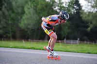 INLINE-SKATEN: STEENWIJK: Gagelsweg (start/finish), Schansweg, Meppelerweg, KPN Inline Cup, Klim van Steenwijk, 02-05-2012, Nolan Beddiaf (#126), ©foto Martin de Jong