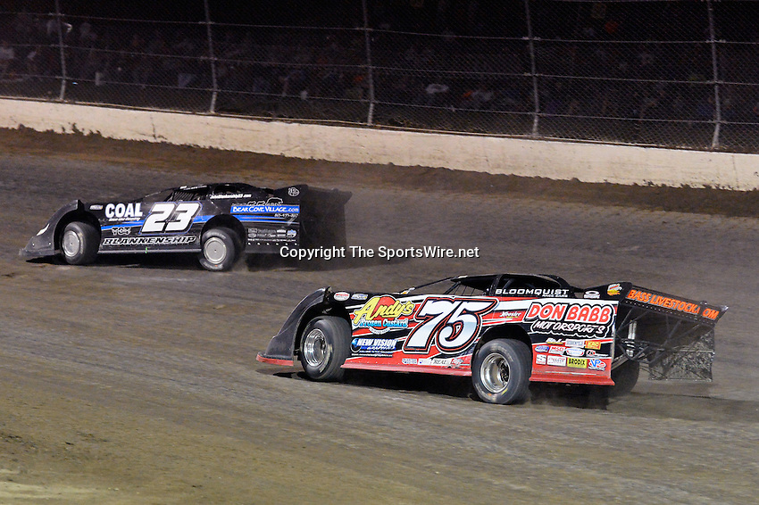 Sep 8, 2013; 12:01:18 AM; Rossburg, OH., USA; The 43rd annual World 100 $46,000-to-win UMP DIRTcar-sanctioned event at the half-mile Eldora Speedway.  Mandatory Credit: (thesportswire.net)