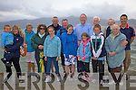 Called Off - Disappointed members of Tralee Bay Swimming Club pictured at The Ladies Slip, Fenit on Sunday where their Annual Gala was due to take place but had to be postponed due to adverse weather and rough tide. ...................................................................................................................................................................................................................................... ............