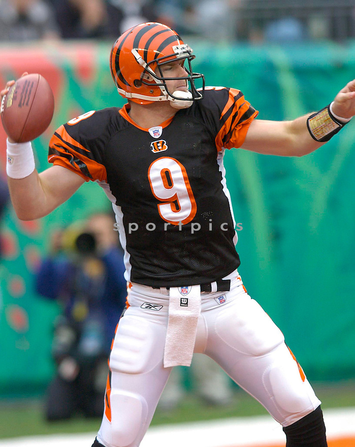 Carson Palmer during the Cincinnati Bengals v. Pittsburgh Steelers game on November 21, 2004...Steelers win 19-14..Chris Bernacchi / SportPics