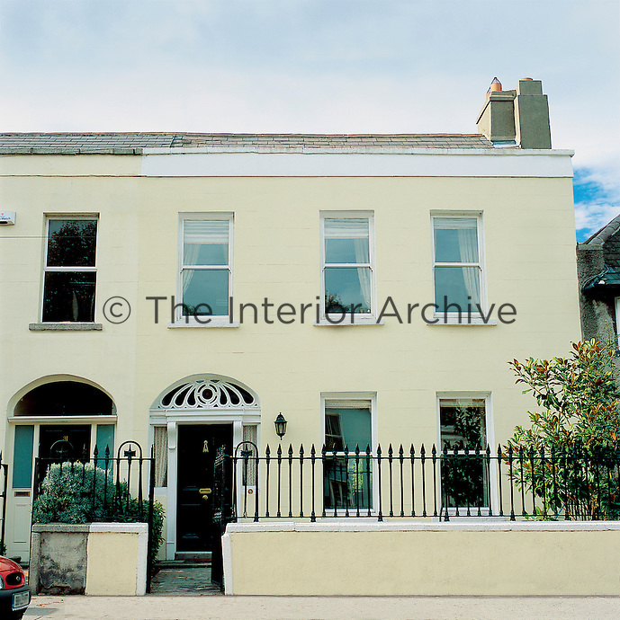 The exterior of a Victorian terraced house in Dublin