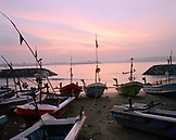 SRI LANKA,  Asia, Galle, fishing boat moored at shore