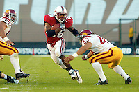Kenneth Tolon during Stanford's 49-17 loss to USC on November 9, 2002 at Stanford Stadium.<br />
