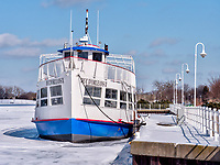 Duc D'Orleans berthed at Centennial Park for the winter