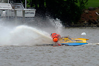 Frame 18: 300-P comes together with 911-Q, turns away and then is ejected from the boat.   (Outboard Hydroplanes)