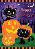 Janet, CUTE ANIMALS, halloween, paintings+++++,USJS406,#ac#