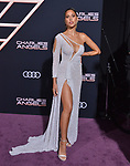 "Kara Del Toro 054 attends the premiere of Columbia Pictures' ""Charlie's Angels"" at Westwood Regency Theater on November 11, 2019 in Los Angeles, California."