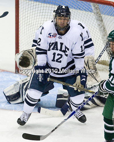 Ken Trentowski (Yale - 12) - The Yale University Bulldogs defeated the Dartmouth Big Green 7-3 in the Ivy Shootout championship on Saturday, October 30, 2010 at Ingalls Rink in New Haven, Connecticut.