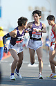 (L to R) Genki Yagisawa (Meiji-Univ), Ryo Ishima (Meiji-Univ), JANUARY 2, 2012 - Athletics : The 88th Hakone Ekiden Race Hiratsuka Relay place in Kanagawa, Japan. (Photo by Atsushi Tomura/AFLO SPORT) [1035].