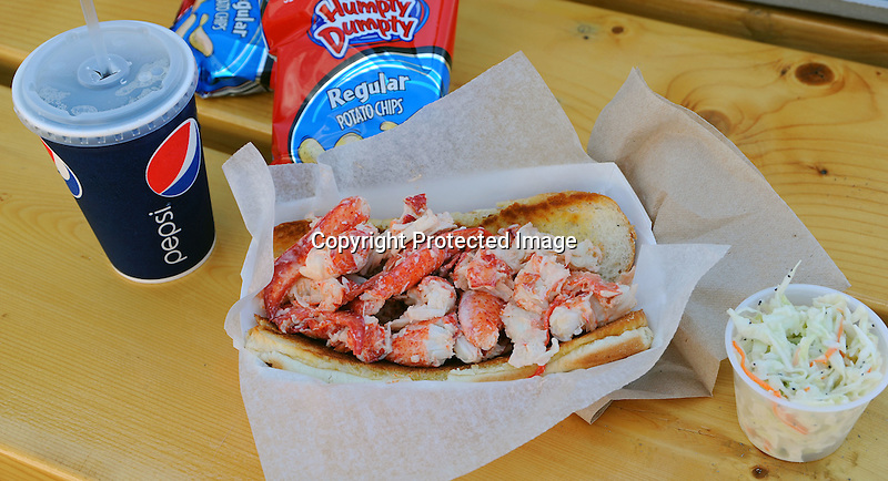 Delicious Lobster Roll in Maine, USA