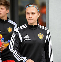 20150523 - SINT-TRUIDEN ,  BELGIUM : Belgian Anaelle Wiard pictured during the friendly soccer game between the Belgian Red Flames and Norway, a preparation game for Norway for the Women's 2015 World Cup, Saturday 23 May 2015 at Staaien in Sint-Truiden , Belgium. PHOTO DAVID CATRY