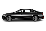 Car Driver side profile view of a 2019 Audi A8-L Avus-Extended 4 Door Sedan Side View