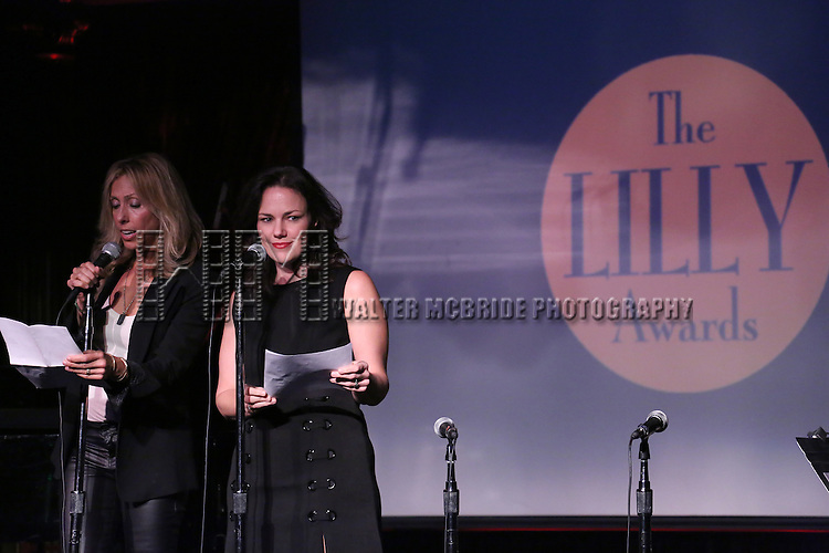 Amanda Green and Georgia Stitt performing at The Lilly Awards Broadway Cabaret at the Cutting Room on October 17, 2016 in New York City.