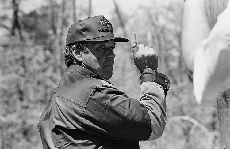 Rep. Duncan Hunter, R-Calif., at the Great Congressional Shootout in May 1997. (Photo by Laura Patterson/CQ Roll Call via Getty Images)