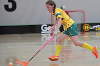 Australia&rsquo;s Tayla Alice Hull in action during the World Floorball Championships 2017 Qualification for Asia Oceania Region Final - Australia v Japan at ASB Sports Centre , Wellington, New Zealand on Sunday 5 February 2017.<br /> Photo by Masanori Udagawa<br /> www.photowellington.photoshelter.com.