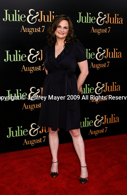 "WESTWOOD, CA. - July 27: Julie Powell arrives at the Los Angeles screening  of ""Julie & Julia"" at the Mann Village Theatre on July 27, 2009 in Westwood, California."