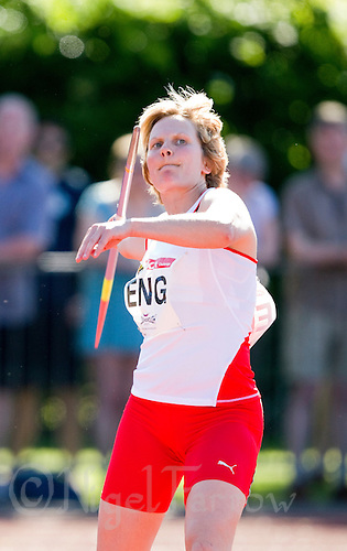 23 MAY 2010 - LOUGHBOROUGH, GBR - Katy Watts (England) prepares to throw during the Womens Javelin at the Loughborough International Athletics (PHOTO (C) NIGEL FARROW)