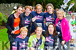 Sandra Hoffman Anauscaul, Samantha and Martina Wadding Tralee, back row: Brid O'mahony Glencar, Louise daly cork, Maaike Verhuizen castlegregory, Niamh O'Connell Castlegregory and Geraldine O'Meara Tralee at the Killarney Women's mini marathon on Saturday